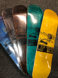 Lip Trix Deck: *Assorted Stain* Woodcut Logo