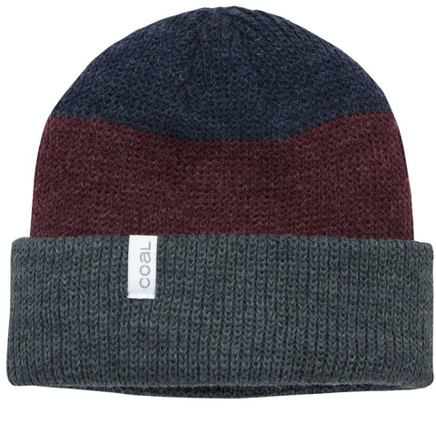Coal Headwear: The Frena Beanie - Charcoal Stripe