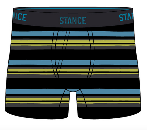 Stance Underwear: Lane Lines Wholester-Black
