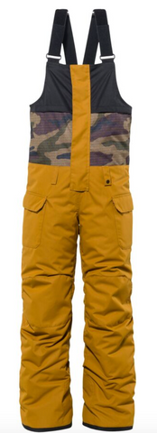 686: Boys' Frontier Insulated Bib - Golden Brown