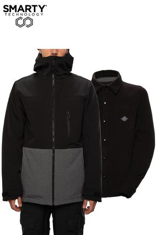 686: Men's Smarty 3-In-1 Phase Soft-shell Jacket - Black Colorblock