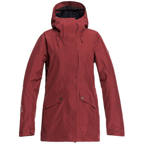 Roxy: Women's GORE-TEX Glade Jacket - Oxblood Red