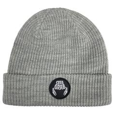 Crab Grab: Circle Patch Beanie - Heather Grey