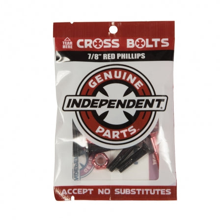 Independent Hardware: 7/8' Red Phillips Cross Bolts