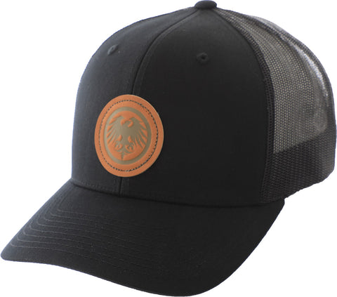 Never Summer: Eagle Icon Leather Patch Hat - Black