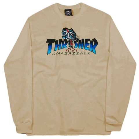 Thrasher: Leopard Mag Long Sleeve Shirt