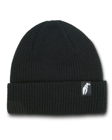 Crab Grab: Claw Label Beanie - Black