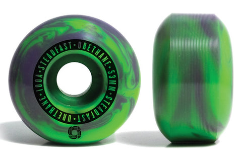 Steadfast 53mm Skate Wheels (Purple/Green)
