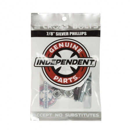 Independent Hardware: 7/8' Black/Silver Phillips Cross Bolts