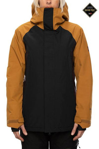 686: Women's GLCR GORE-TEX Whitney Insulated Jacket - Golden Brown Colorblock