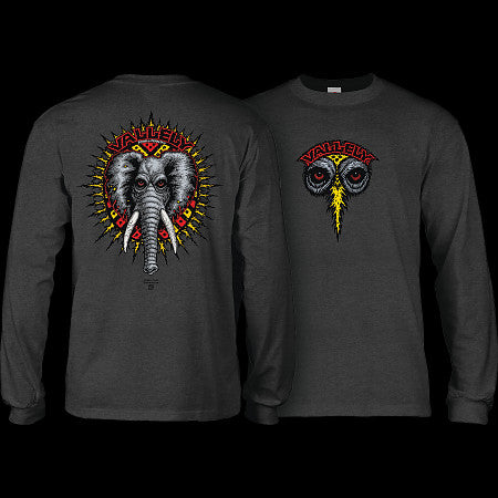 Powell Peralta: Mike Vallely Elephant L/S - Charcoal Heather