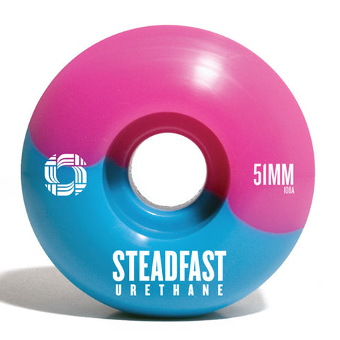 Steadfast 51mm Skate Wheels (Blue/Pink)