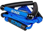"Ronix: 10"" Hide Grip Handle + 25 ft 5-Section Bungee Surf Rope - Blue/Silver"