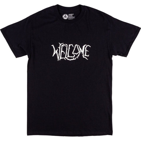 Welcome Black Lodge T-Shirt - Black/White Puff