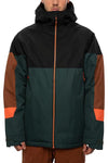686: Men's Static Insulated Jacket - Dark Spruce Colorblock