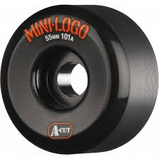 Mini Logo A-cut 55mm 101a Black Skateboard Wheels