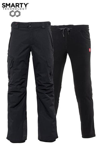 686: Mens Smarty 3-In-1 Cargo Pant - Black