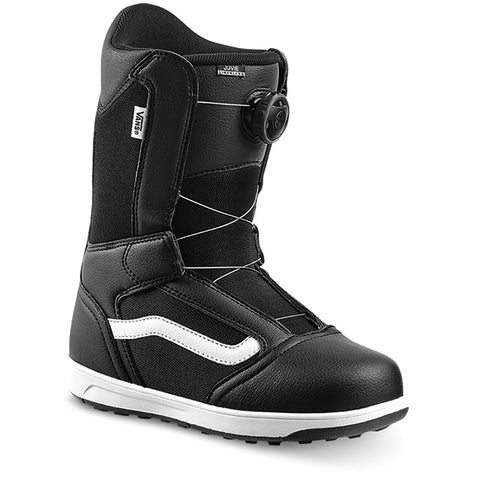Vans Snowboard Boots: Juvie Linerless Black/White
