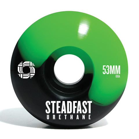 Steadfast 53mm Skate Wheels (Black/Green)