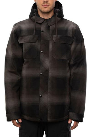 686: Men's Woodland Insulated Jacket - Black Plaid