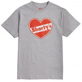 Shorty's: Heart T-Shirt - Grey