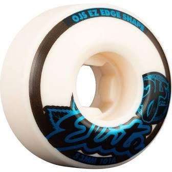 OJ Elite EZ Edge White Skateboard Wheels 101a Wheels