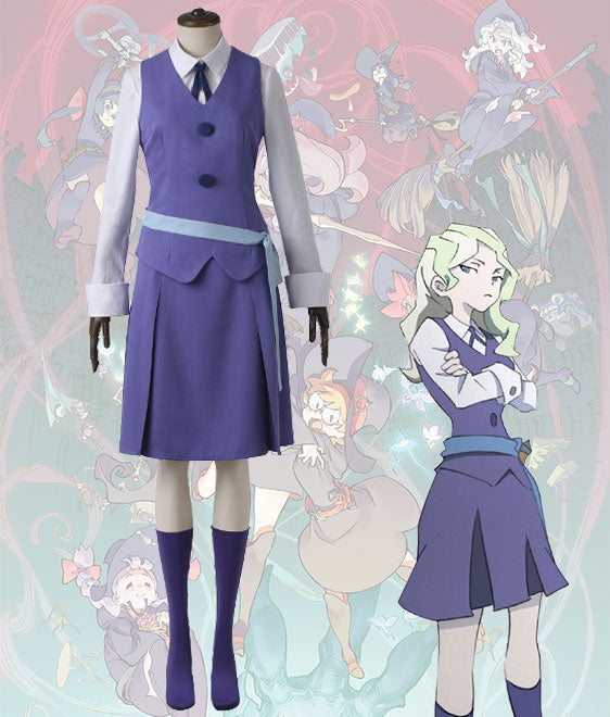 Little Witch Academia Diana Cavendish Summer Uniform Cosplay Costume