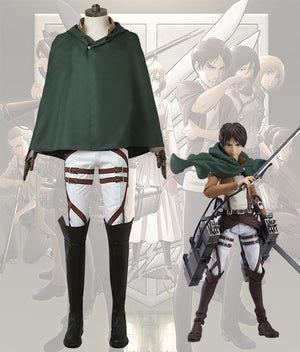 Attack On Titan Shingeki No Kyojin Eren Yeager Battle Uniform Cosplay Costume