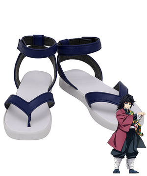 Demon Slayer: Kimetsu no Yaiba Giyuu Tomioka Blue Cosplay Shoes