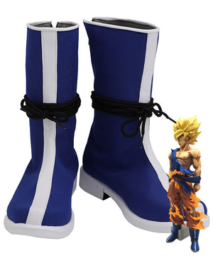 Dragon Ball Son Goku Blue White Shoes Cosplay Boots