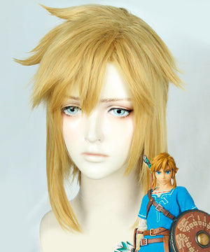The Legend of Zelda: Breath of the Wild Link Gloden Cosplay Wig
