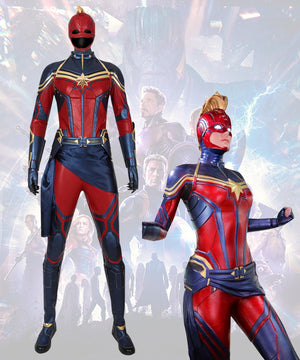 Marvel Avengers 4: Endgame Captain Marvel Carol Danvers Printed Cosplay Costume