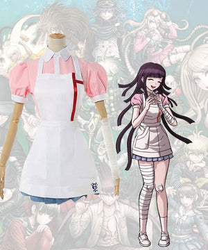 Super Danganronpa Dangan Ronpa 2 Mikan Tsumiki Maid Cosplay Costume Dress