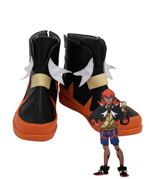 Pokemon Pok¨¦mon Sword And Shield Raihan Red Black White Cosplay Shoes