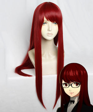Persona 5 the Royal Sumire Yoshizawa Red Cosplay Wig