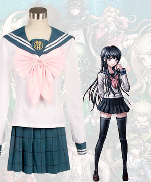 DanganRonpa Dangan Ronpa Sayaka Maizono School Uniform Cosplay Costume