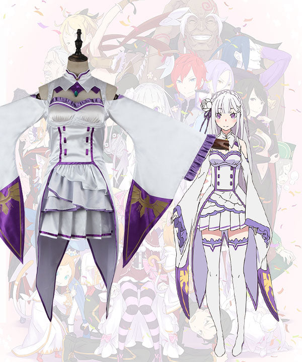 Re: Life In A Different World From Zero Emilia Cosplay Costume