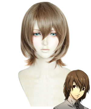 Persona 5 Goro Akechi Brown Cosplay Wig