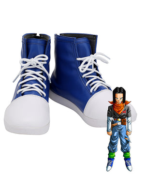 Dragon Ball Android 17 Blue Cosplay Shoes