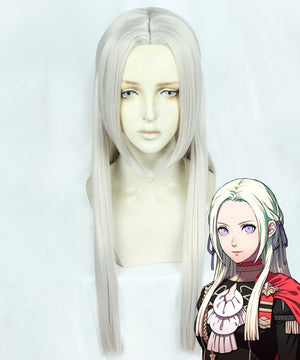 Fire Emblem Three Houses Edelgard Von Hresvelg Sliver White Cosplay Wig