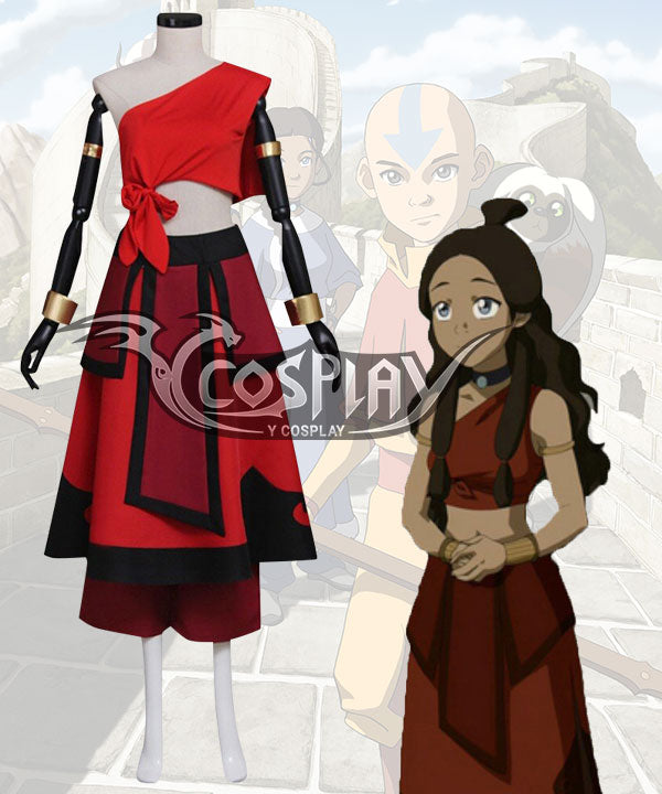 Avatar Legend of Korra Katara Red Cosplay Costume