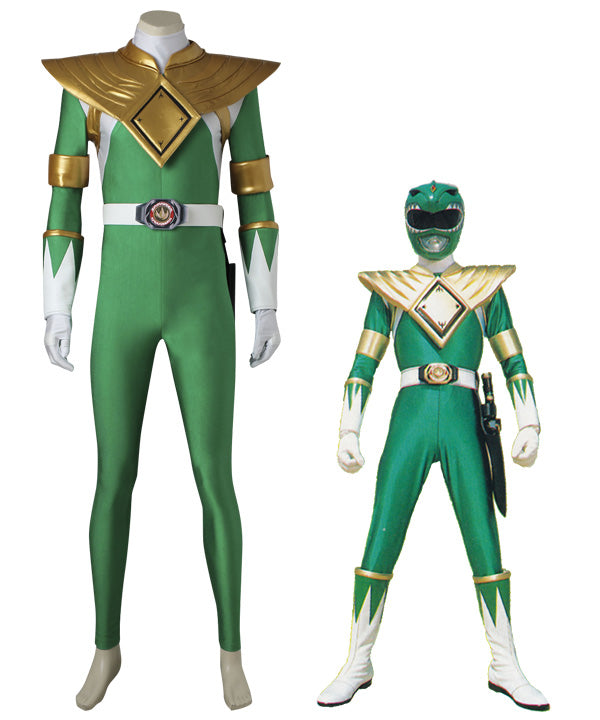 Mighty Morphin' Power Rangers Dragon Ranger Burai Cosplay Costume - Including Boots