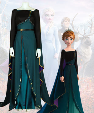 Disney Frozen 2 Anna Queen Cosplay Costume