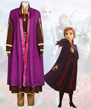 Disney Frozen 2 Anna Cosplay Costume
