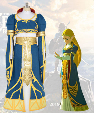 The Legend Of Zelda: Breath Of The Wild Princess Zelda Cosplay Costume - No Wig