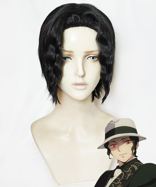 Demon Slayer: Kimetsu No Yaiba Muzan Kibutsuji Black Cosplay Wig