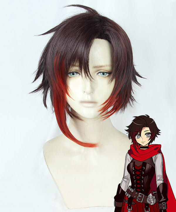 RWBY Volume 7 Ruby Rose Black Red Cosplay Wig