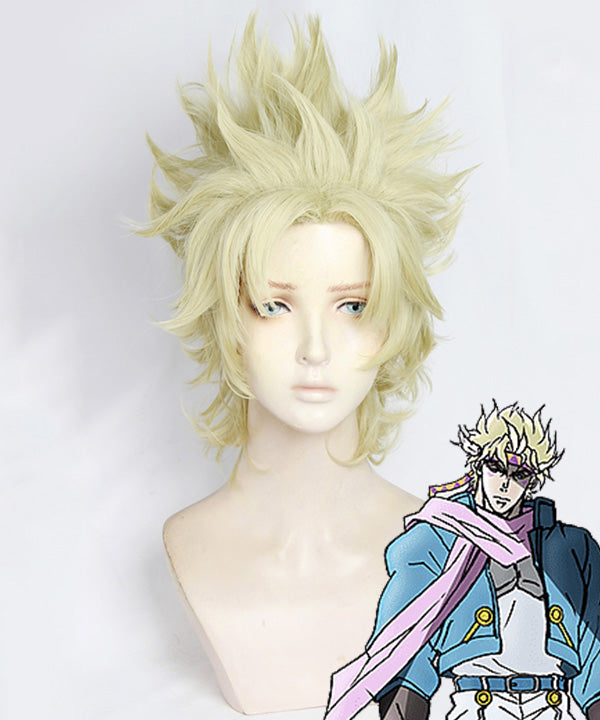 Jojo'S Bizarre Adventure: Battle Tendency Caesar Anthonio Zeppeli Golden Cosplay Wig
