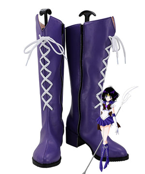 Sailor Moon Sailor Saturn Tomoe Hotaru Saturn Purple Shoes Cosplay Boots