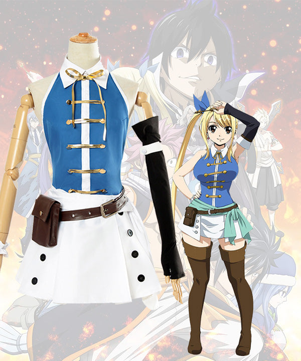 Fairy Tail Lucy Heartfilia 2018 Anime New Cosplay Costume